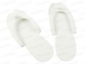 Papuče na jednorazové použitie - biele