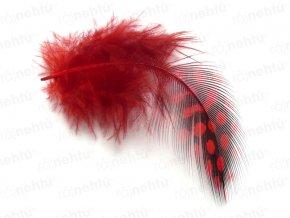 Pierka 3 ks - pávie očká, červené