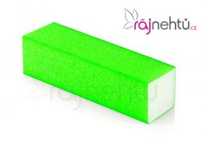 Pilník blok farebný - neón zelený