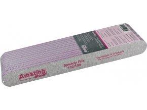 Pilník profi SPEEDY zebra 100/100 (ružový stred) 12ks