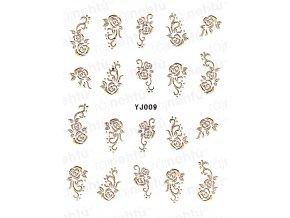 Samolepky na nechty - zlaté 09