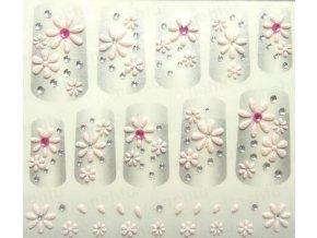 Samolepky na nechty 3D - ružové R1