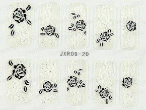 Samolepky na nechty 3D - séria JXR20