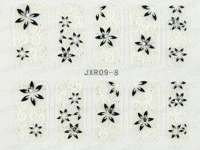 Samolepky na nechty 3D - séria JXR8