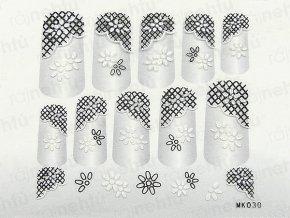 Samolepky na nechty 3D - séria K4