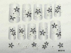Samolepky na nechty 3D - séria K5