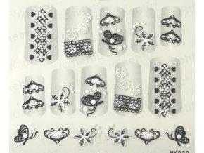 Samolepky na nechty 3D - séria K6