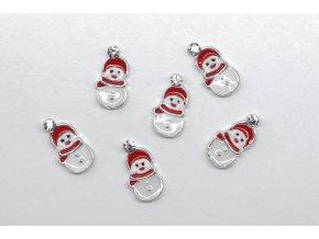 Vianočné 3D zdobenie - snehuliak