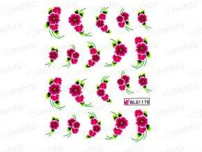 Vodolepky - kvietok ružový s lístkami (1178)