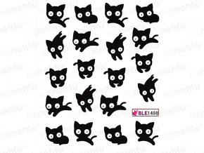 Vodolepky detské - mačka čierna (1498)