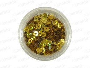 Zdobenie na nechty, kolieska (duté) CDčka - zlaté