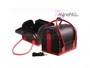 Kozmetický kufrík - čierno-červený