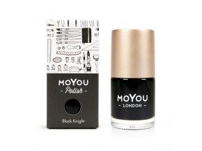 Pečiatkovací lak na nechty - Black Knight 15 ml