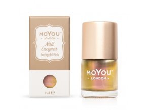 Pečiatkovací lak na nechty - Ladygold Pink 9ml