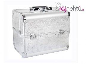 Kozmetický kufrík - strieborný DELIGHT