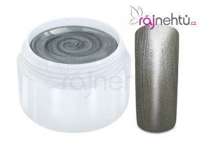 Raj nechtov Farebný UV gél METALLIC - Grey 5ml