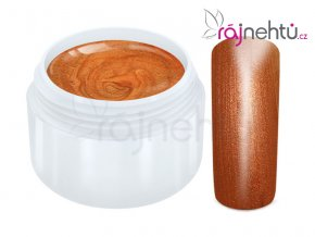 Raj nechtov Farebný UV gél METALLIC - Orange 5ml