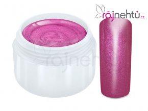 Raj nechtov Farebný UV gél METALLIC - Rose 5ml