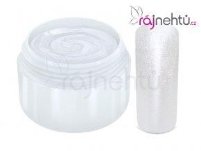 Raj nechtov Farebný UV gél METALLIC - White 5 ml