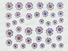 Samolepky na nechty 3D - margarétka fialová (668)