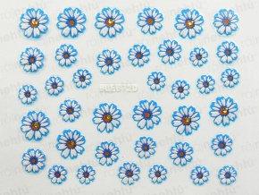 Samolepky na nechty 3D - margarétka modrá (672)