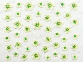 Samolepky na nechty 3D - kvietok zelený (651)