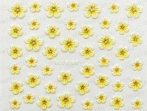 Samolepky na nechty 3D - kvietok žltý (659)