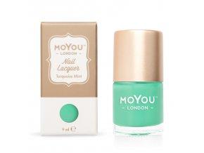 Pečiatkovací lak na nechty - Turquoise Mint 9 ml