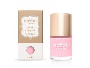 Pečiatkovací lak na nechty - Candy Floss 9 ml