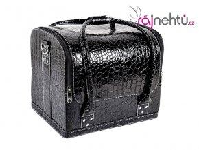 Kozmetický kufrík - čierny-krokodíl
