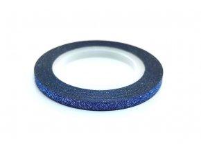 zdobici paska glitter modra