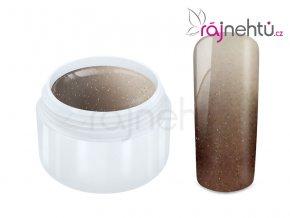 Raj nechtov - Farebný UV gél THERMO - nude/white metal - 5 ml