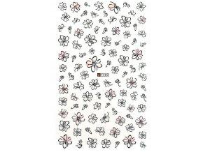 Samolepky XL - kvety (F80)