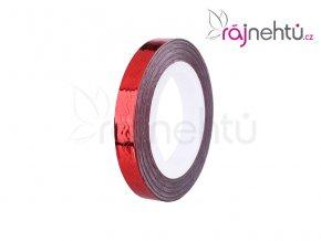 Zdobiaca páska vlnka - červená