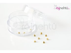Zdobenie na nechty kovové - hroty zlaté