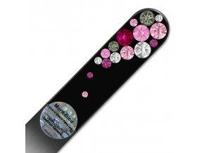 Pilník skleněný s kamínky Swarovski - Bubbles Black BB-M01