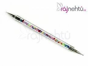 Zdobící kulička DUO s barevnými krystaly - A