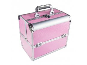 Kosmetický kufřík SENSE - dekor, růžový