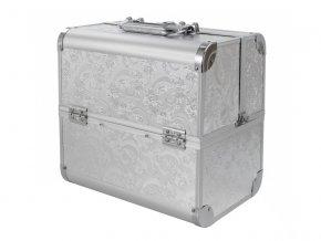 Kosmetický kufřík SENSE - dekor, stříbrný