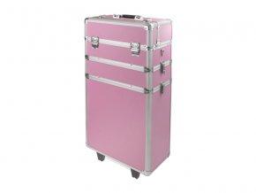 Velký kosmetický kufr SENSE 3v1 - růžový