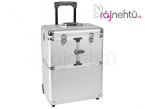 Kosmetický kufr HANNAH - stříbrný