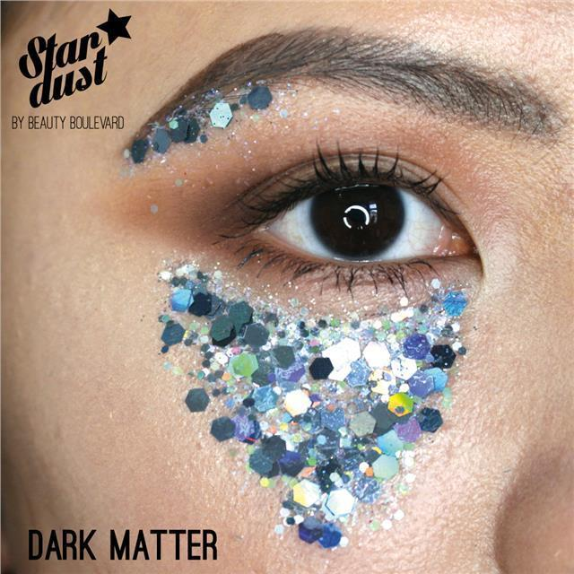 Beauty Boulevard Stardust - vodoodolné trblietky na telo a vlasy - Dark Matter