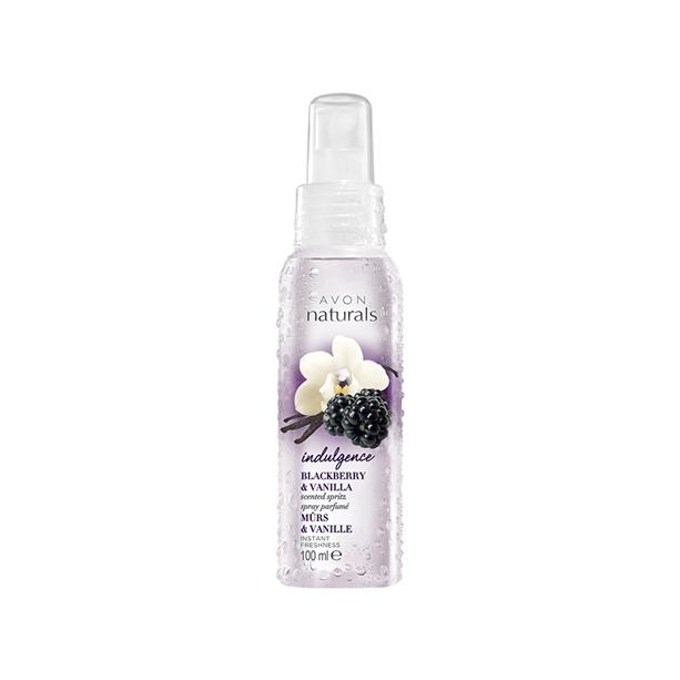 AVON Tělový sprej s vůní ostružin a vanilky 100ml