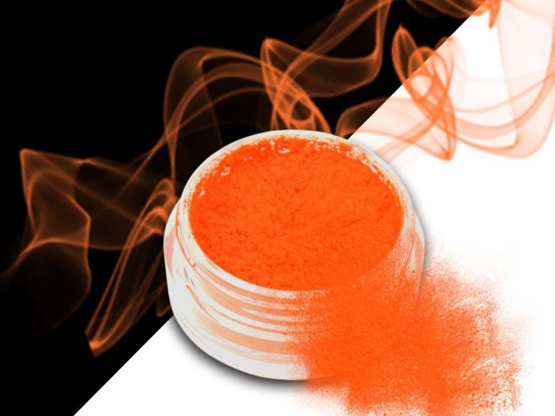 Ráj nehtů Smoke pigment - Neon Orange