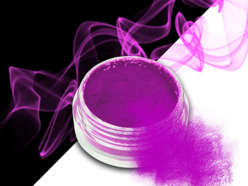 Ráj nehtů Smoke pigment - Neon Purple