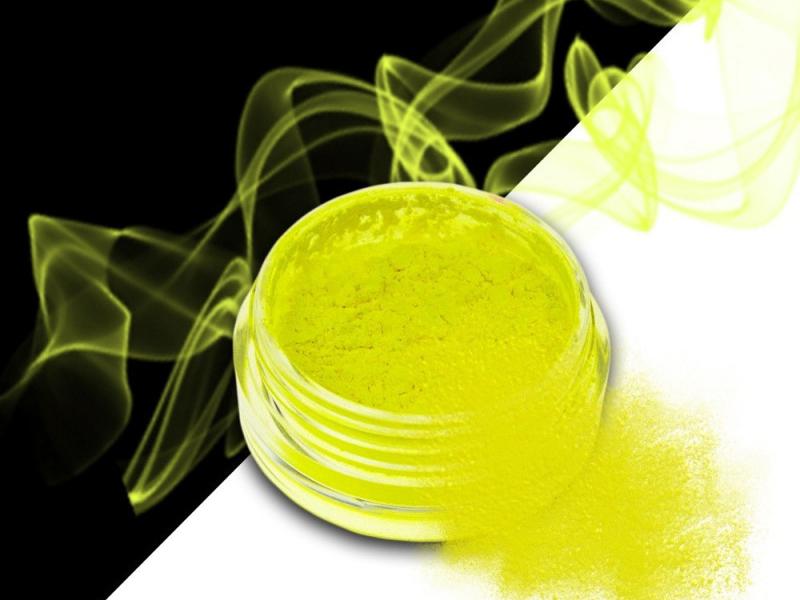 Ráj nehtů Smoke pigment - Neon Yellow