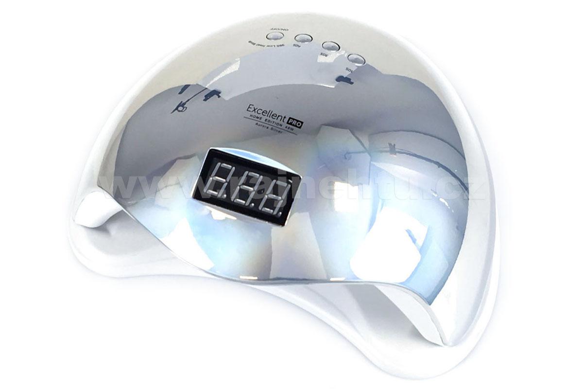 Ráj nehtů UV/LED LAMPA Excellent Pro 48W Home stříbrná