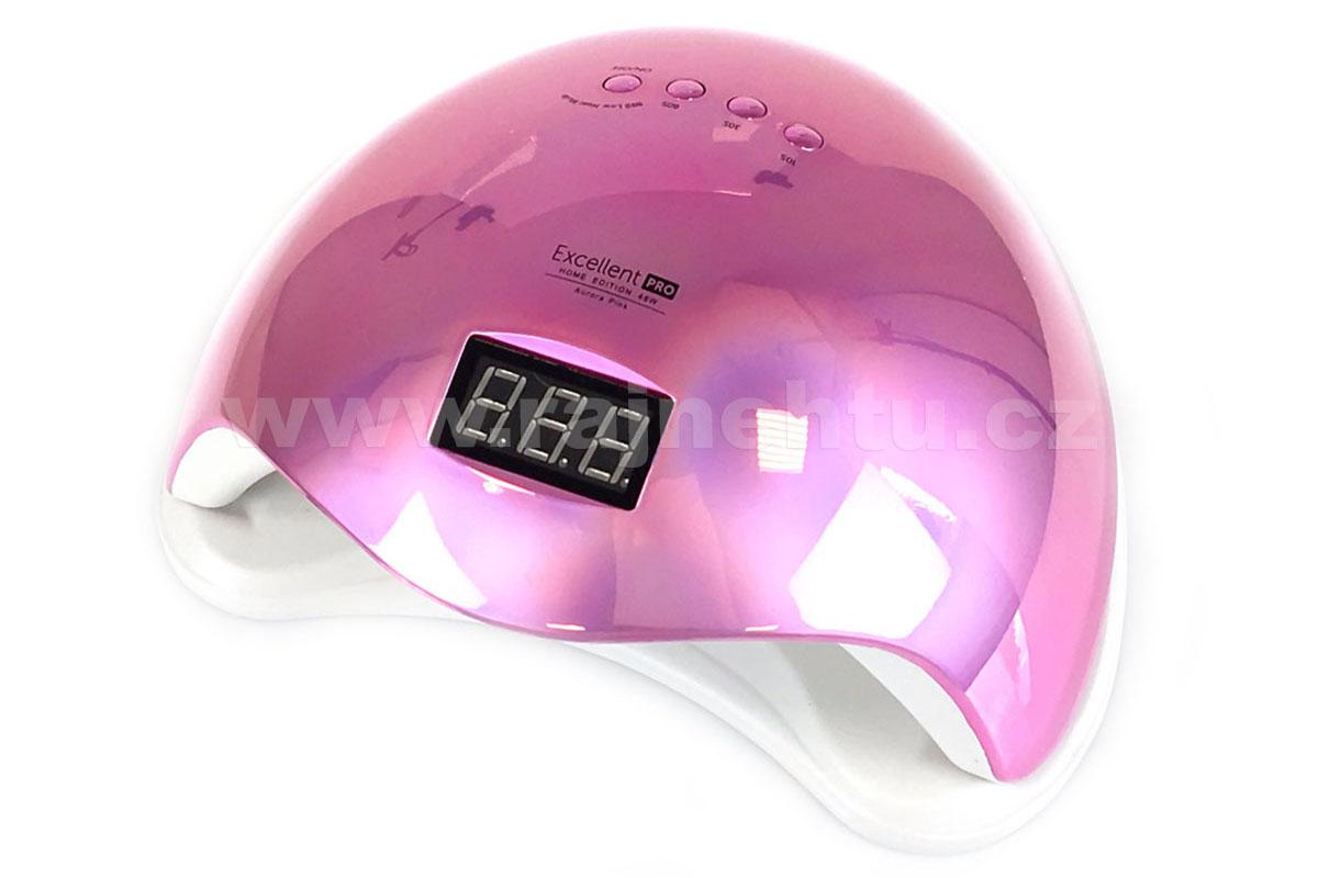 Ráj nehtů UV/LED LAMPA Excellent Pro 48W Home růžová