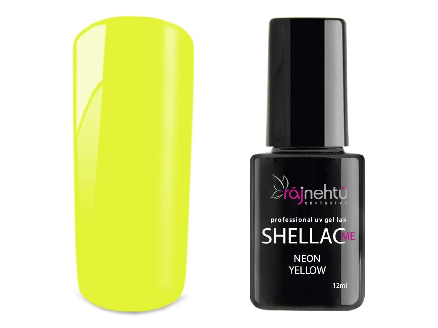 Ráj nehtů UV gel lak Shellac Me 12ml - Neon Yellow
