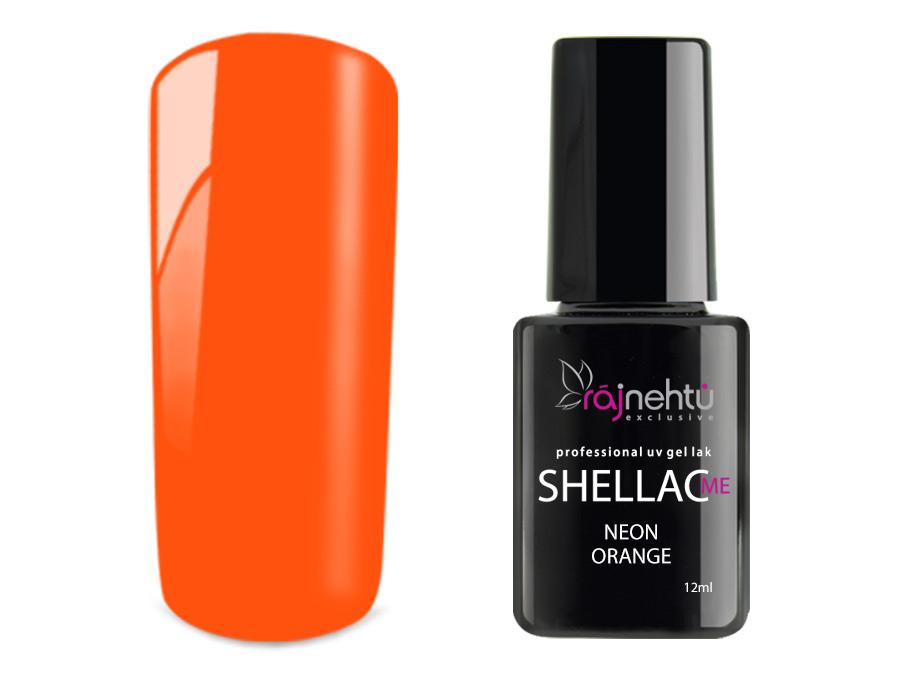Ráj nehtů UV gel lak Shellac Me 12ml - Neon Orange